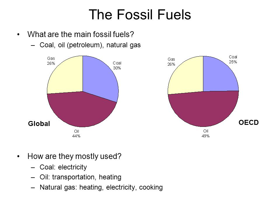 The Fossil Fuels What are the main fossil fuels.