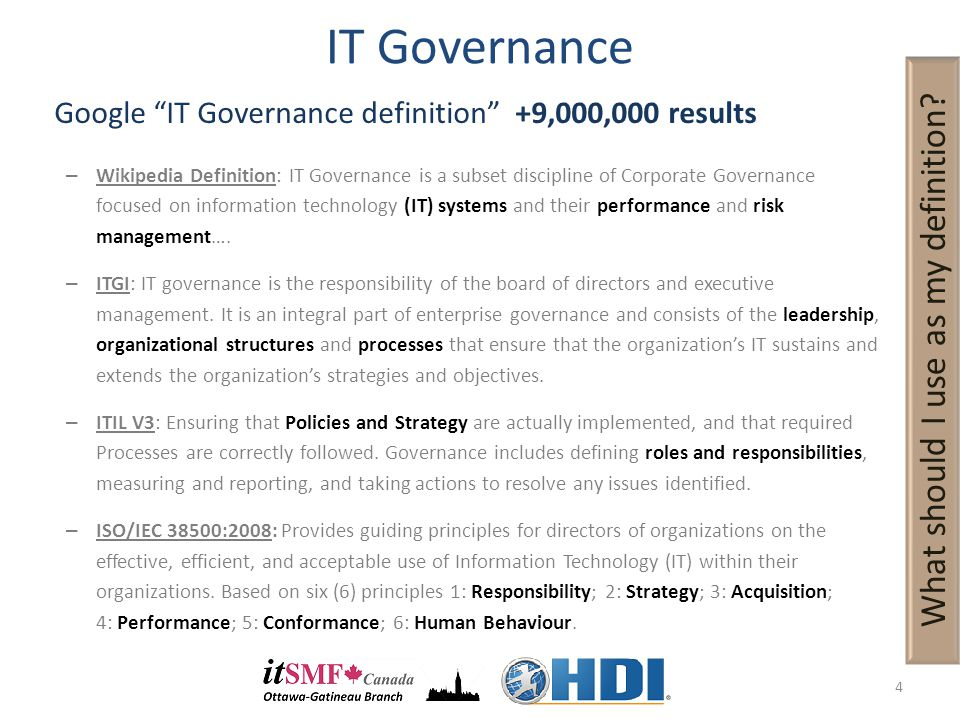 Establishing A Comprehensive It Process Governance Framework