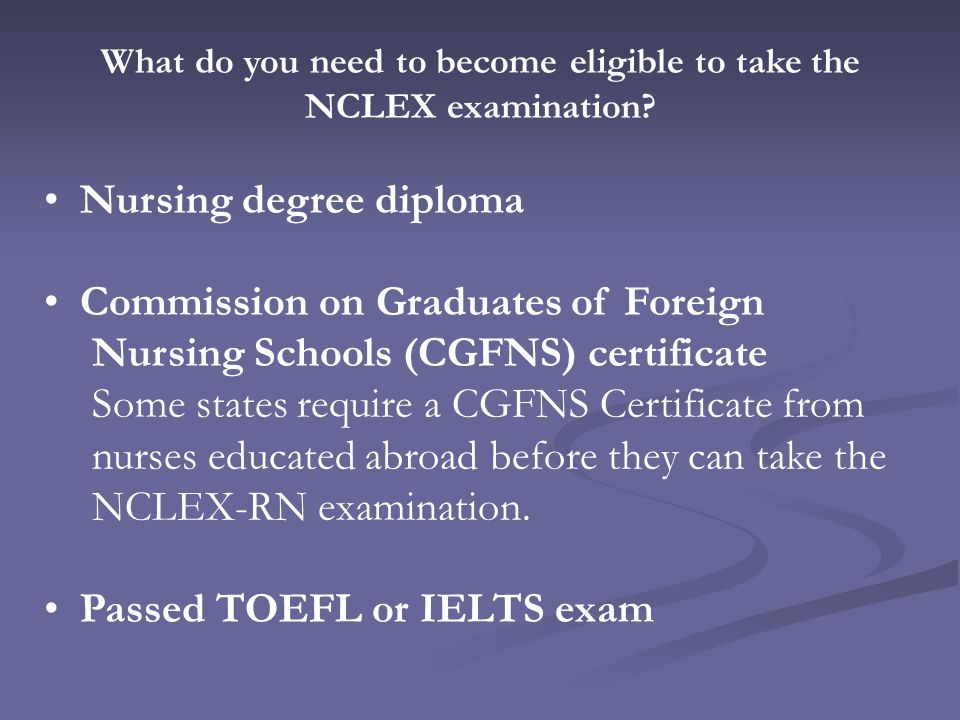 The National Council Licensure Examination Is A Standardized Exam