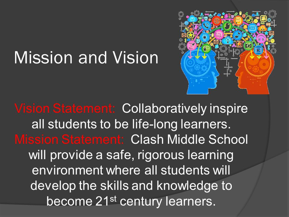 Mission and Vision Vision Statement: Collaboratively inspire all students to be life-long learners.