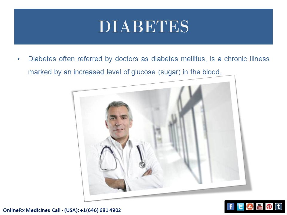 DIABETES Diabetes often referred by doctors as diabetes mellitus, is a chronic illness marked by an increased level of glucose (sugar) in the blood.