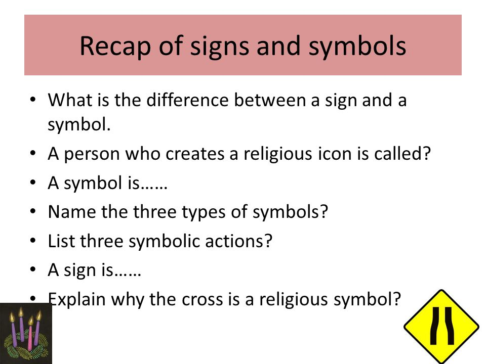 Signs And Symbols Ms Dunlop 3 Rd Year Religion Ms Dunlop 3 Rd Year