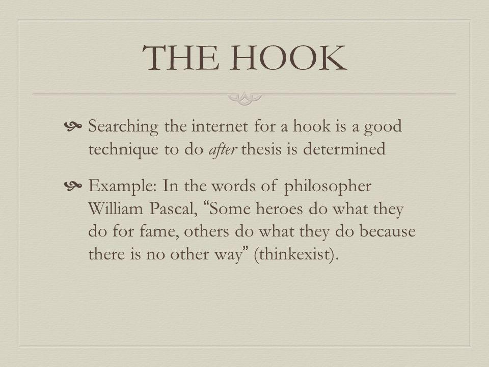 good hook sentences examples