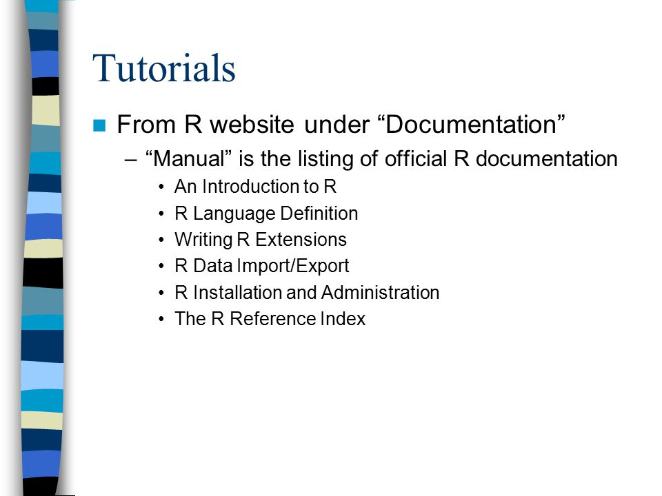 how to use the r programming language for statistical analyses part rh slideplayer com Garage Door Installation Manual Fit and Finish Installation Guide