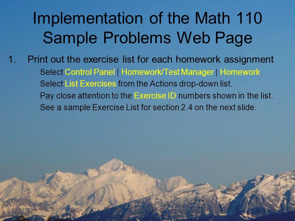 Math Intermediate Algebra Sample Problems Web Page Bruce Johnston ...