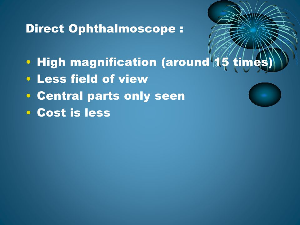 Different Investigation In Specialty Clinic Refraction Auto