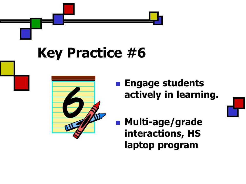 Key Practice #6 Engage students actively in learning.