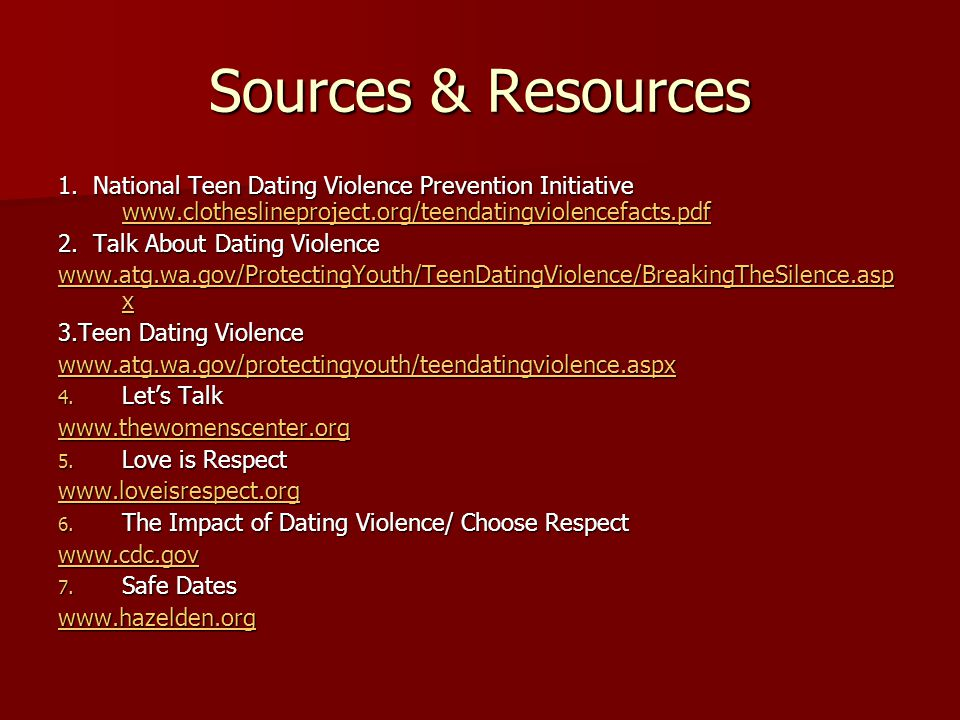Sources & Resources 1.