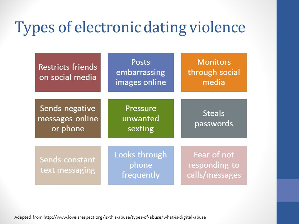 6 types of dating abuse