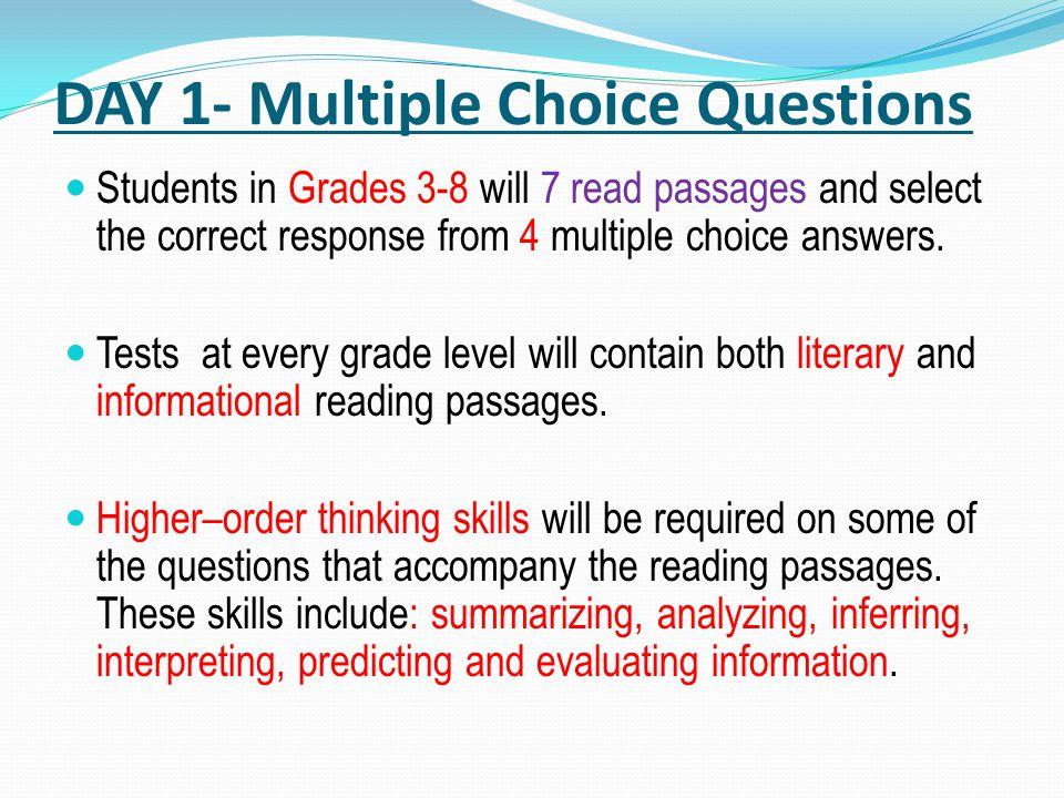 April 17 18 ELA Exam Overview Three Day Exam April 17 18