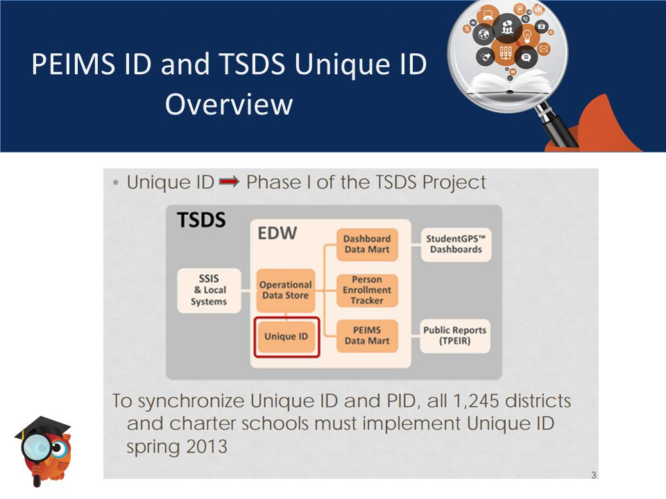 PEIMS ID and TSDS Unique ID Overview