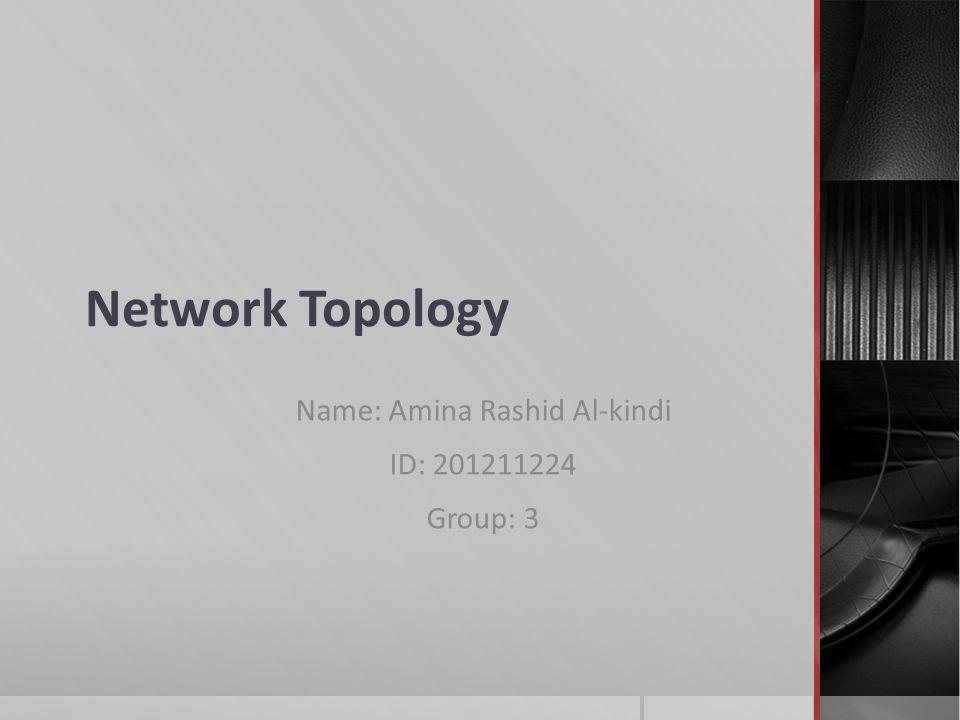 Network Topology Name: Amina Rashid Al-kindi ID: Group: ppt