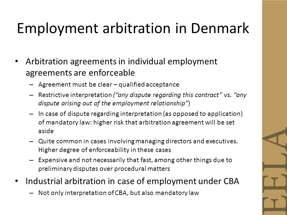 Arbitration Of Employment Disputes Lars Holo Helene Amsinck Raquel
