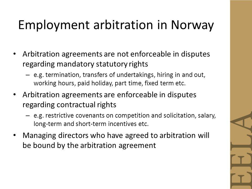 Arbitration Of Employment Disputes Lars Holo Helene Amsinck Raquel