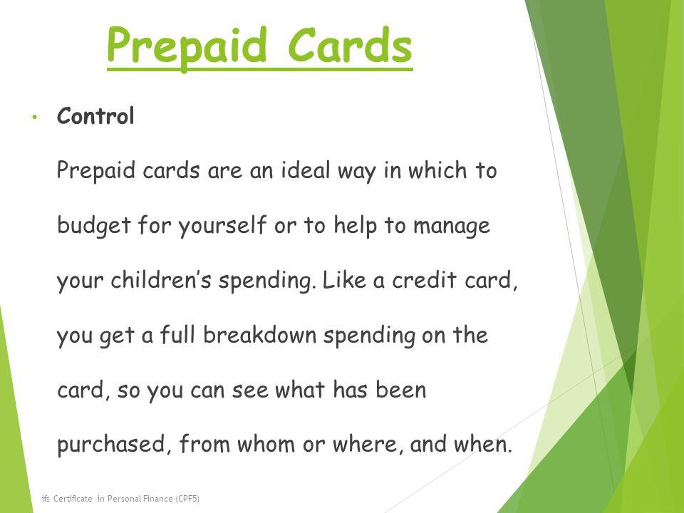 81 prepaid cards control - Control Prepaid Card
