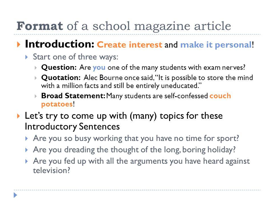 school articles