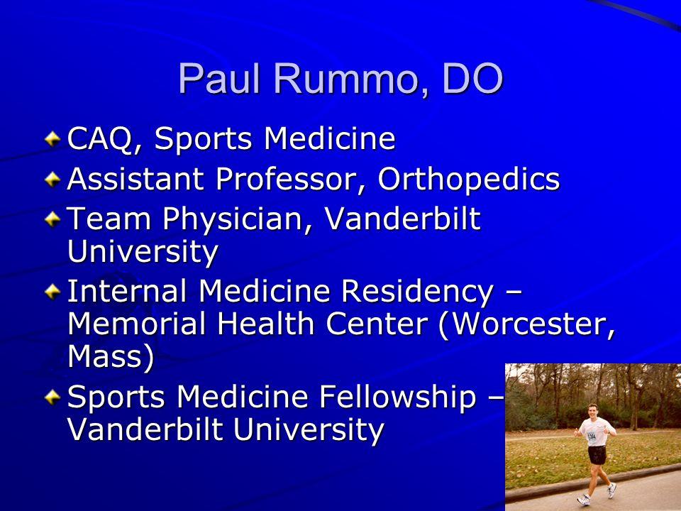 Vanderbilt Sports Medicine Welcome 2009 Fellowship
