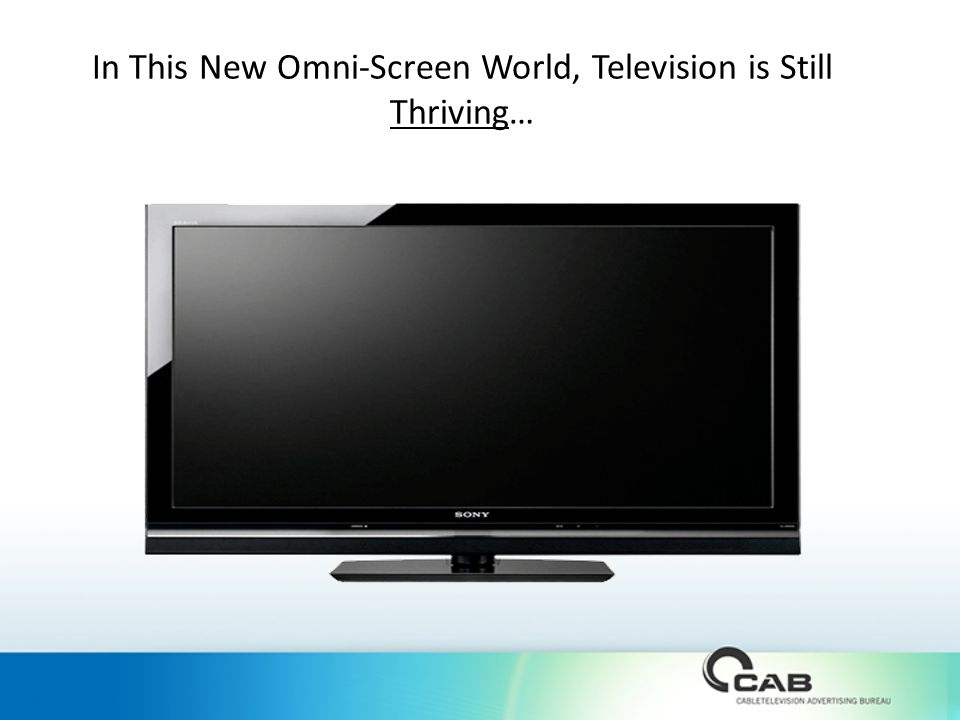 In This New Omni-Screen World, Television is Still Thriving…