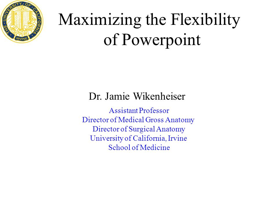 Maximizing The Flexibility Of Powerpoint Assistant Professor