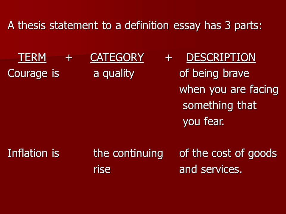thesis statement definition essay