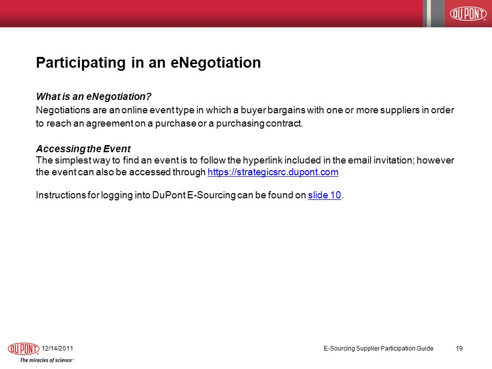 Participating in an eNegotiation What is an eNegotiation.