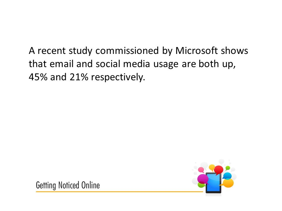 A recent study commissioned by Microsoft shows that  and social media usage are both up, 45% and 21% respectively.