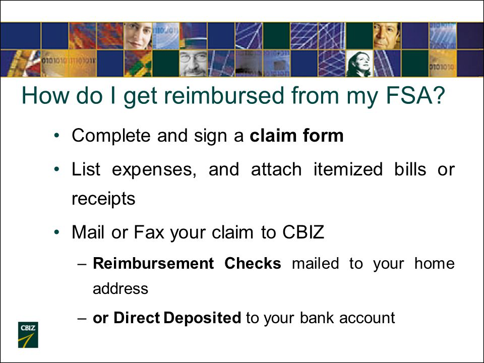 How do I get reimbursed from my FSA.