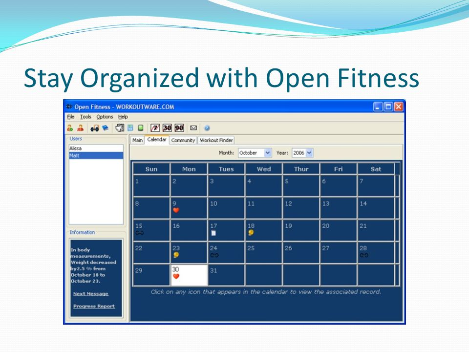 Stay Organized with Open Fitness
