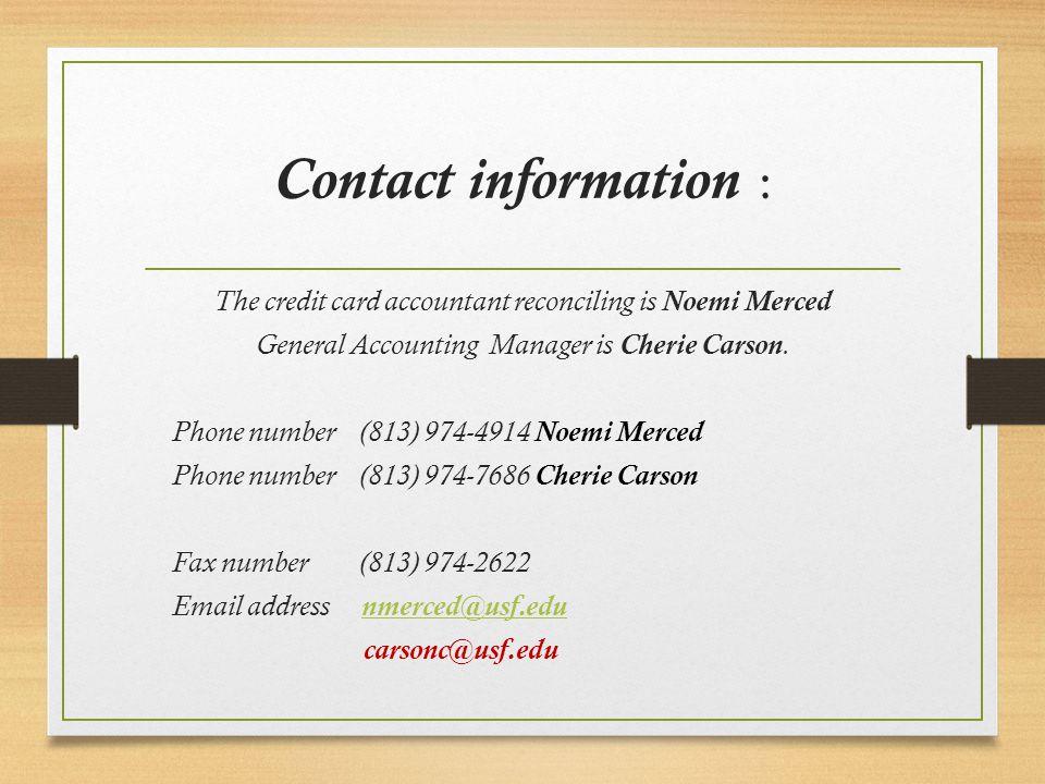 university of south florida credit card presentation credit card