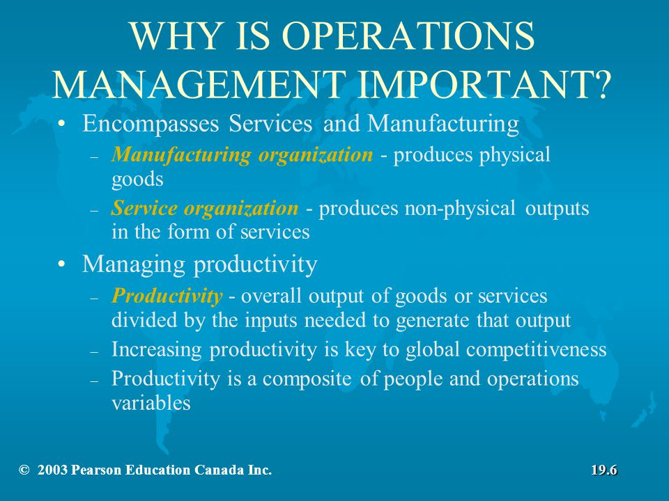 Chapter 19 Operations And Value Chain Management C 2003 Pearson