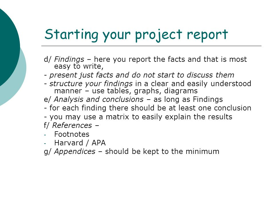 Writing Your Project Report Lecture 12 Professional Development And