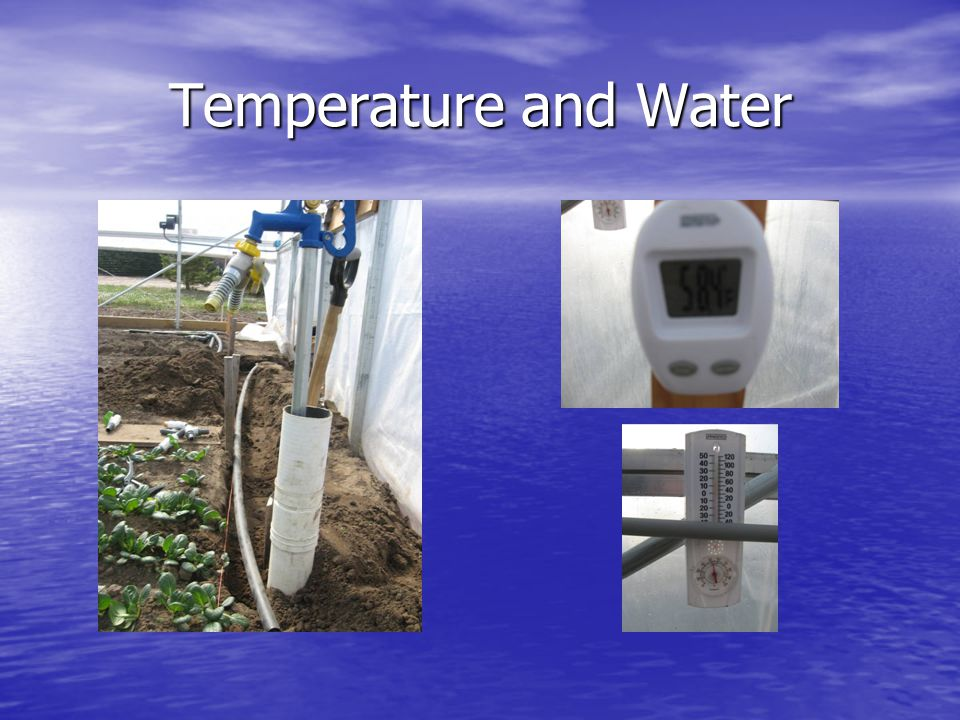 Temperature and Water