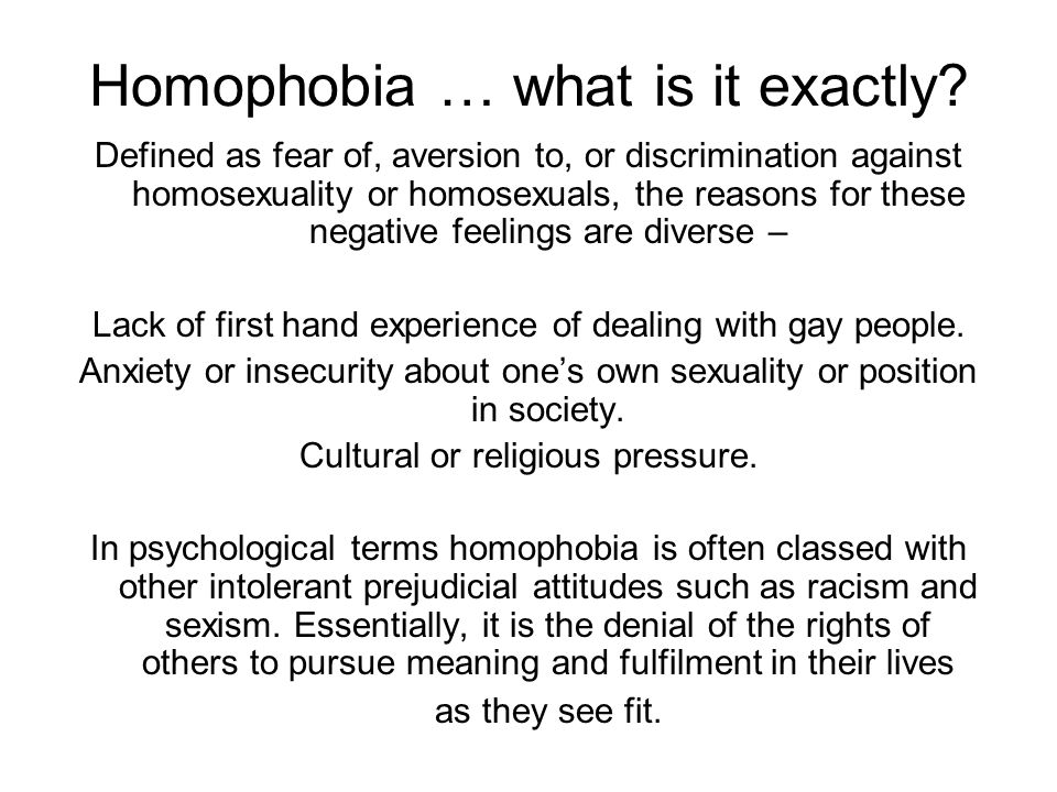 New Evidence Of Homophobes Secret