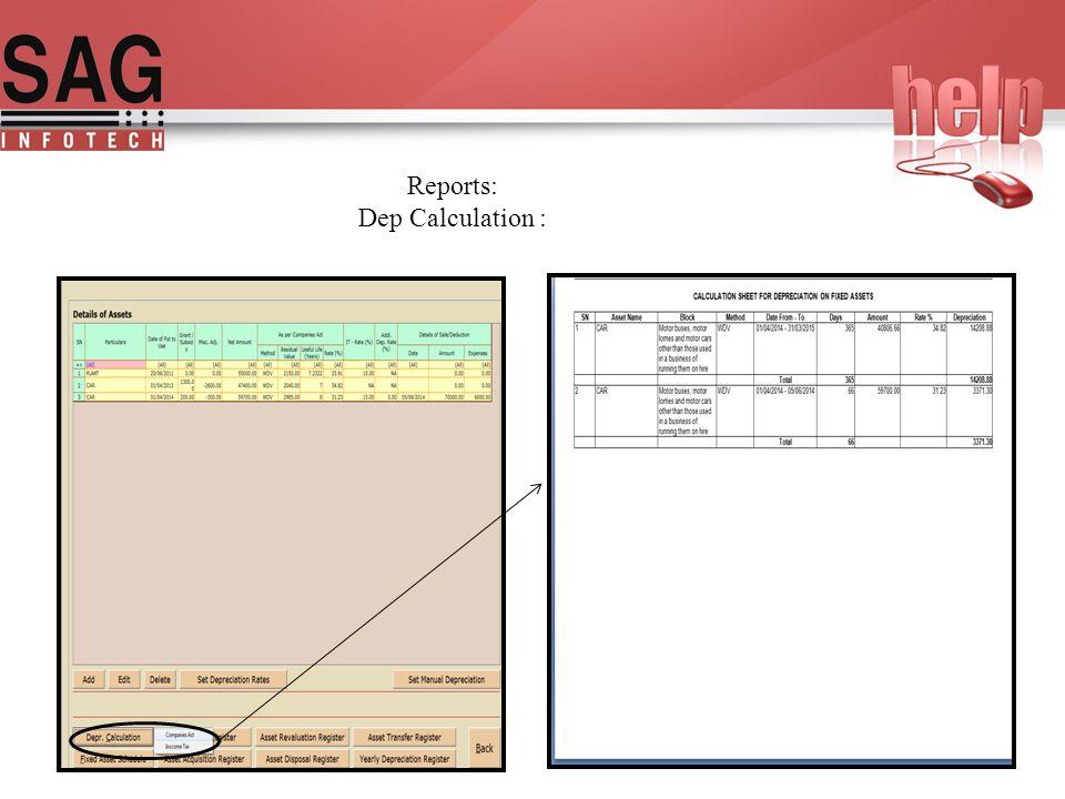 SAG INFOTECH PVT  LTD Help Manual For Fixed Assets Register