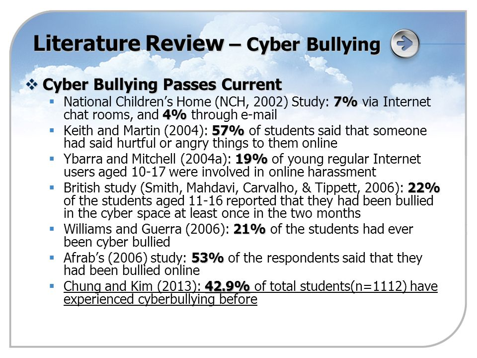 cyber bullying 7 essay Over cyber bullying essay sample directions : the following prompt is based on the accompanying seven sources this question requires you to synthesize a variety of.