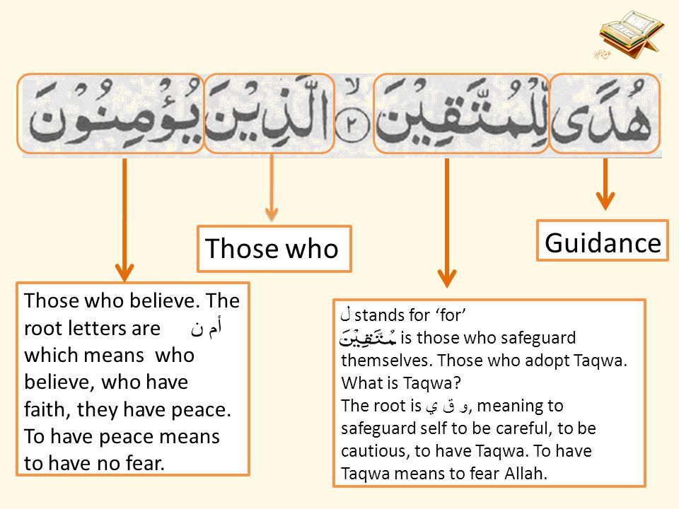 Juz 1 Word-to-Word Translation of : By: Momina Mateen  - ppt download