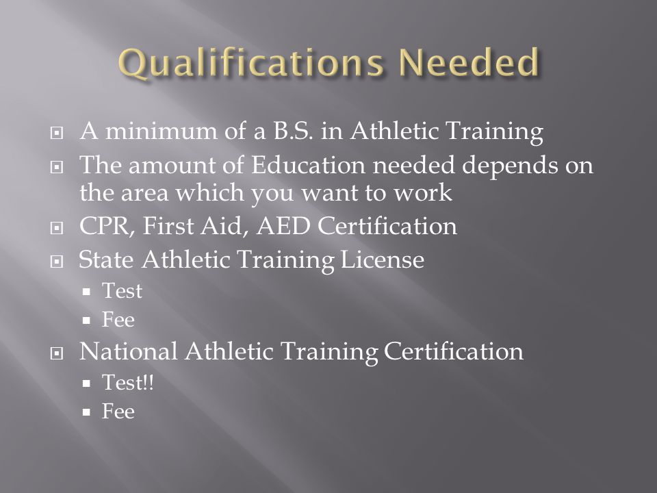a description of a definition of an athletic trainer Athletic trainer job description template we are looking for driven, dedicated athletic trainer who will be invested in the success of our athletes using knowledge of sports-related injuries to diagnose and treat athletes or referring them to the care of a doctor or other medical staff member.