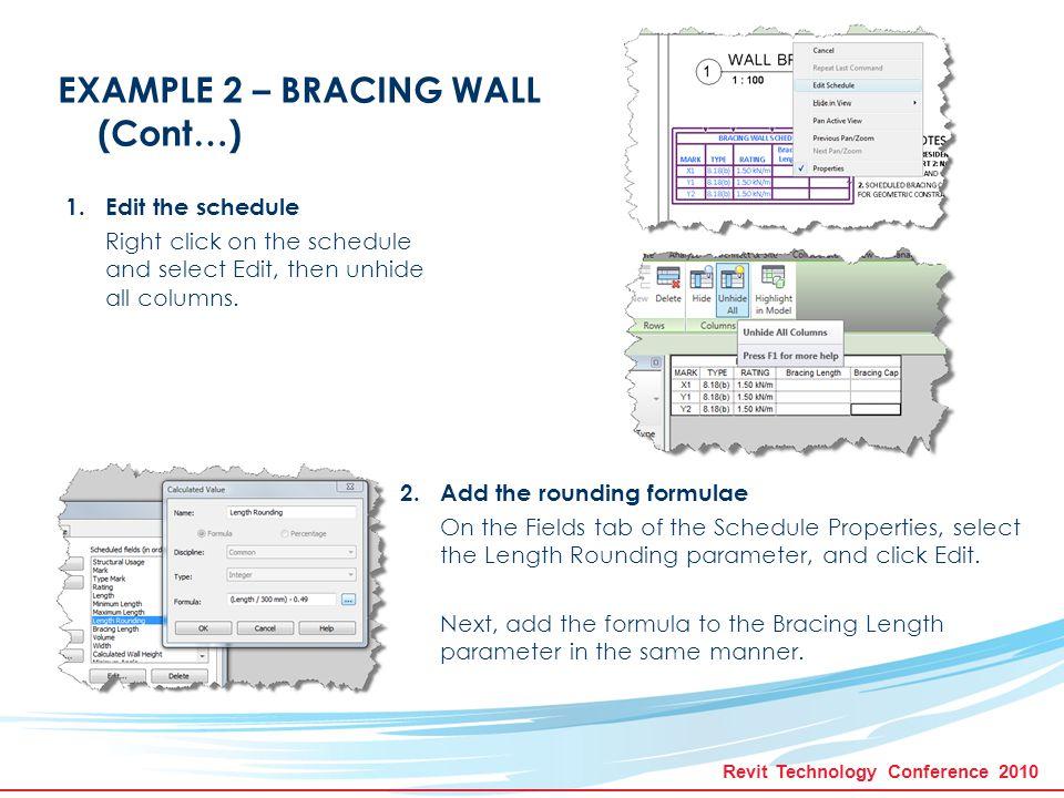TM Let Revit Do Your Work: Using Formulae To Make Advanced
