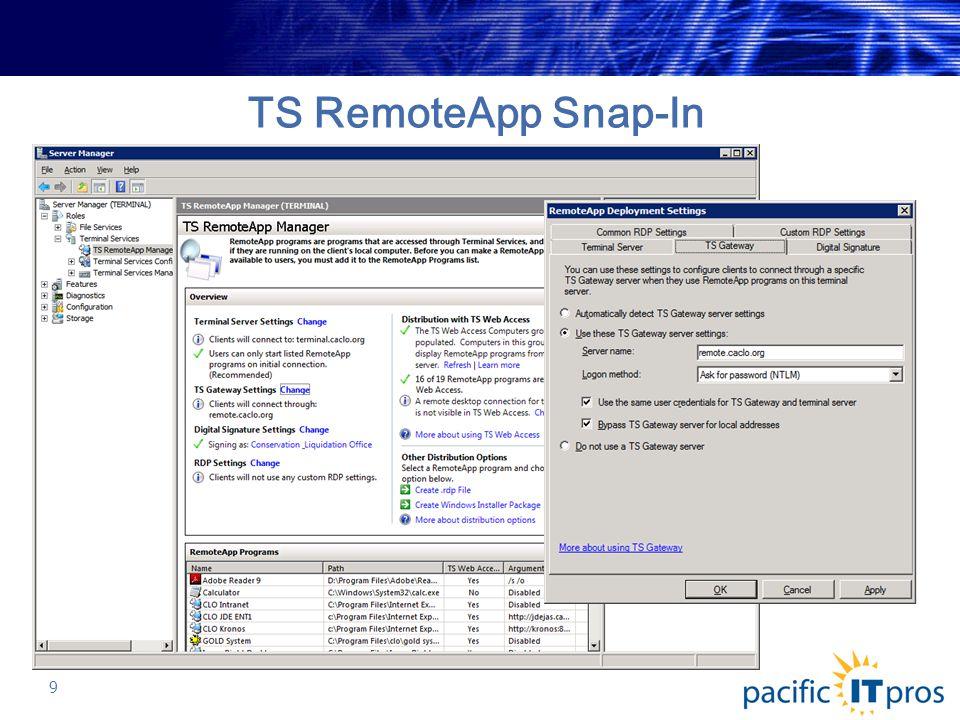 Server 2008 Terminal Services and Remote Desktop Services Basic