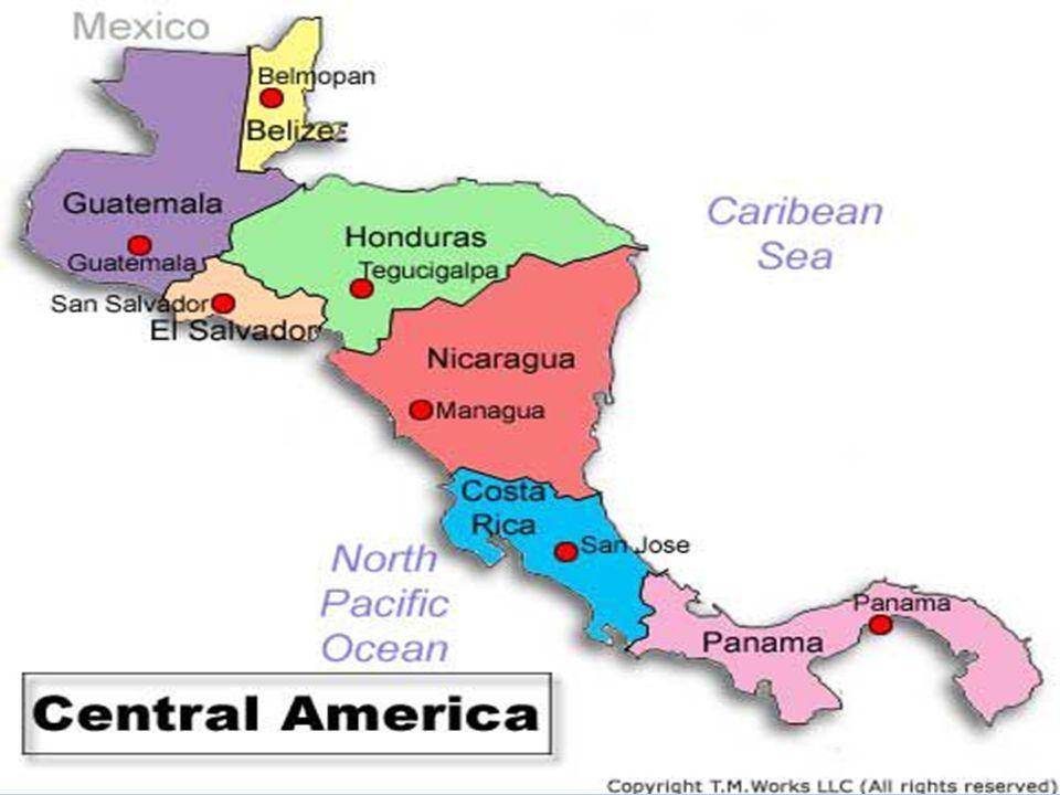 Latin American Countries Map Review. Mexico Nicaragua Panama ...