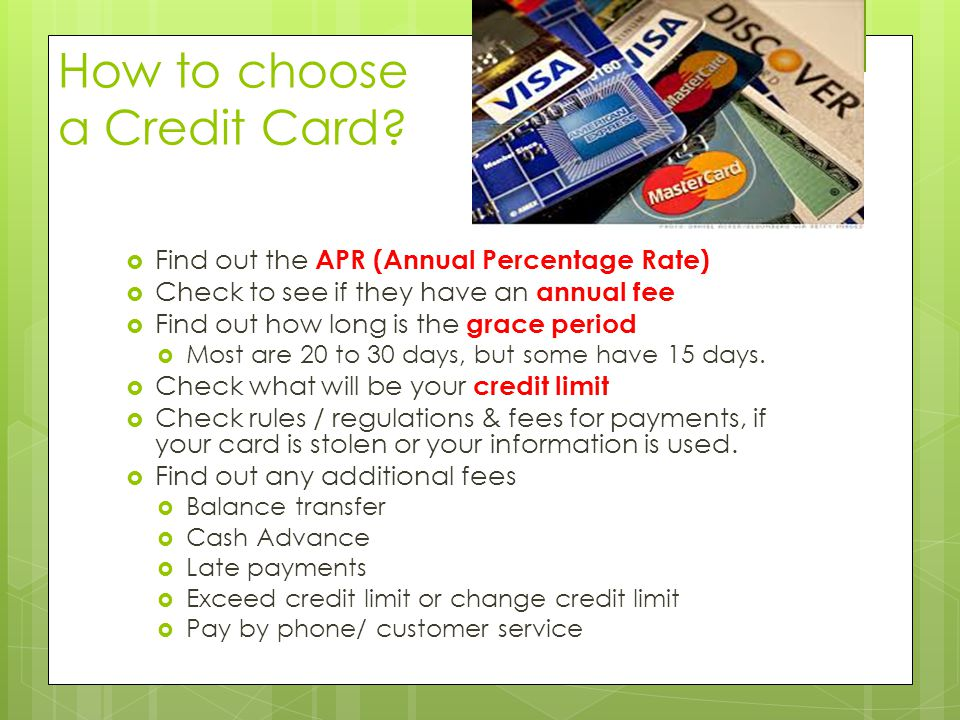 How to choose a Credit Card.