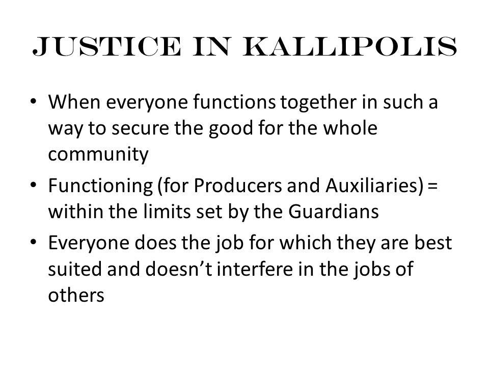 Image result for Kallipolis justice