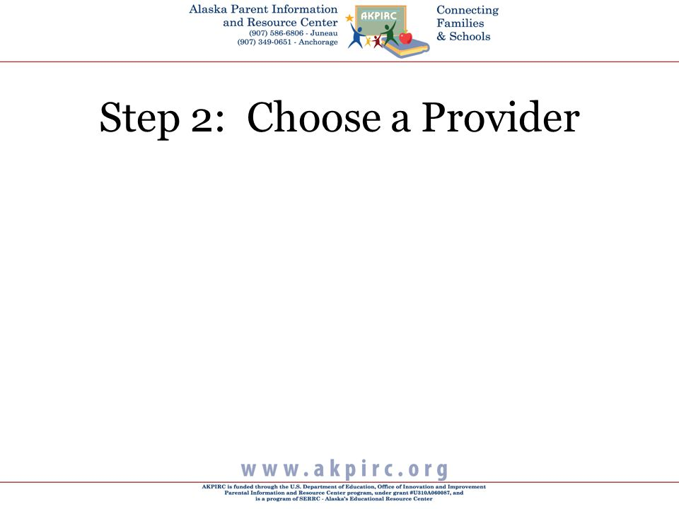 Step 2: Choose a Provider
