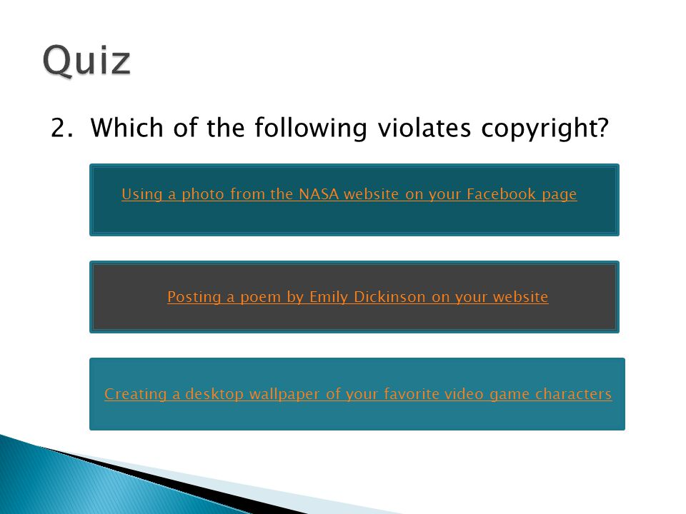 Willful infringement is when an individual purposefully/knowingly violates copyright.