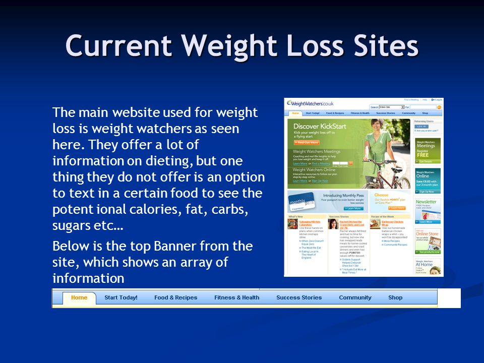 weight loss sites
