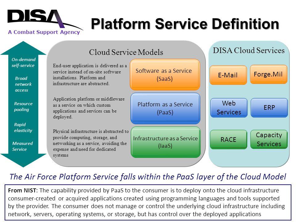 DISA's Transformation to a Platform Service Provider A Combat