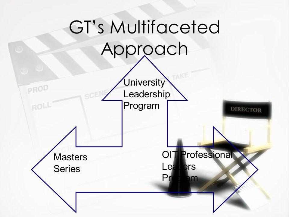 GT's Multifaceted Approach Masters Series OIT Professional Leaders Program University Leadership Program