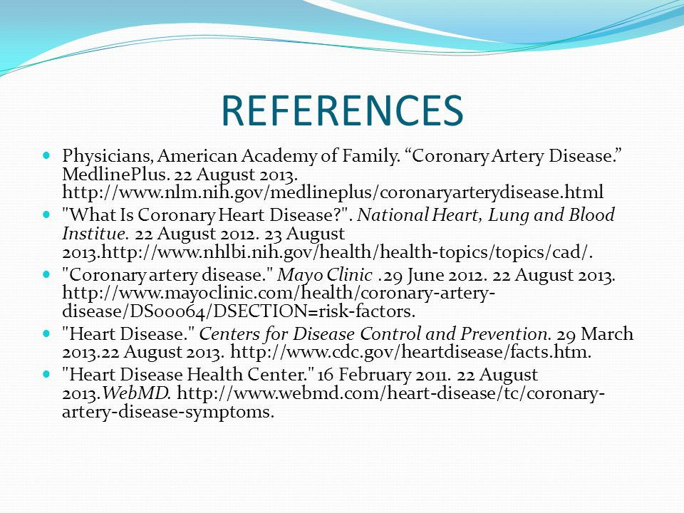 REFERENCES Physicians, American Academy of Family.