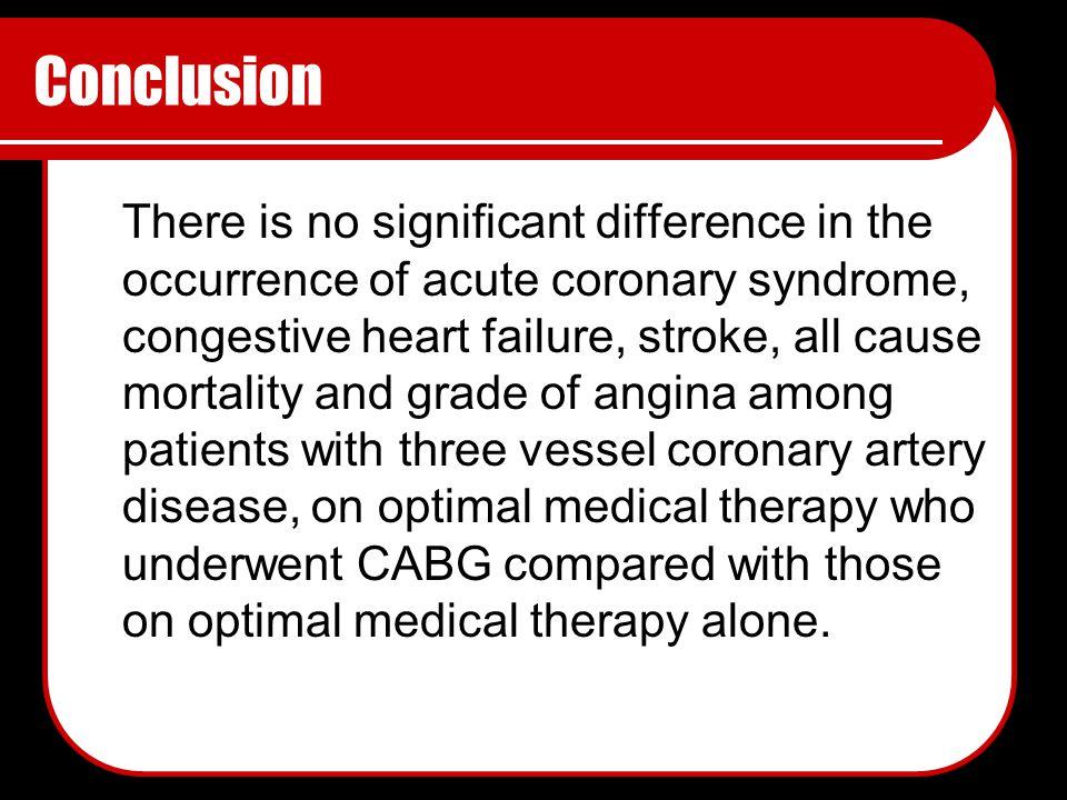 coronary heart disease conclusion