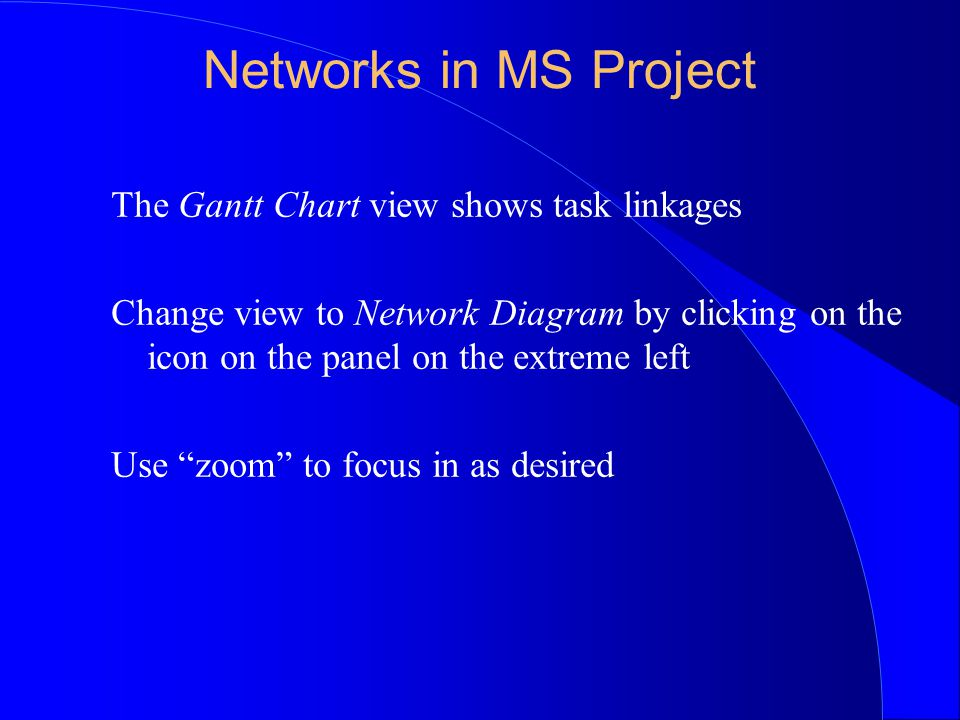 Using ms project project management software programs such as 10 networks in ms project the gantt chart view ccuart Gallery
